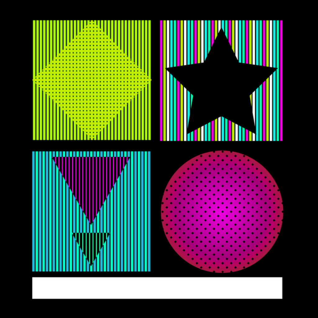 NeatoShop: Striped Square Quartet