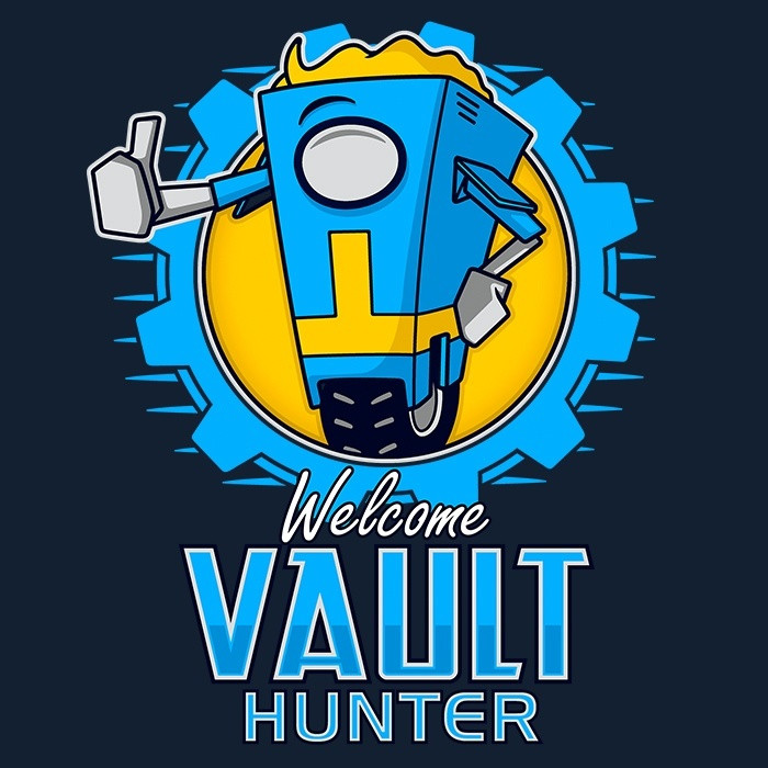 We Heart Geeks: Welcome Vault Hunter - Men's T-Shirt