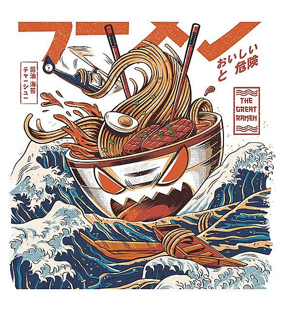 RedBubble: The Great Ramen off Kanagawa