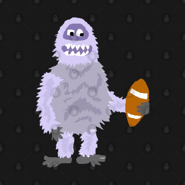 TeePublic: Funny Abominable Snowman Playing Football