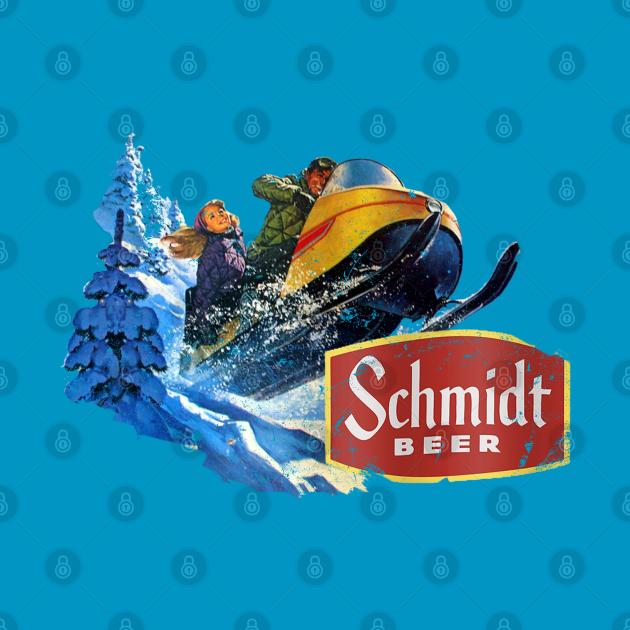TeePublic: Schmidt Beer Snowmobile