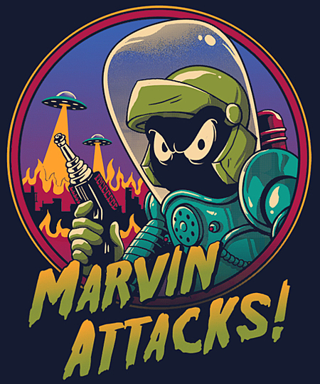 Qwertee: Marvin Attacks!