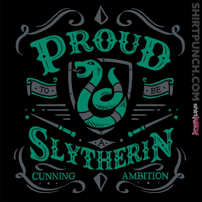 ShirtPunch: Proud to be a Slytherin