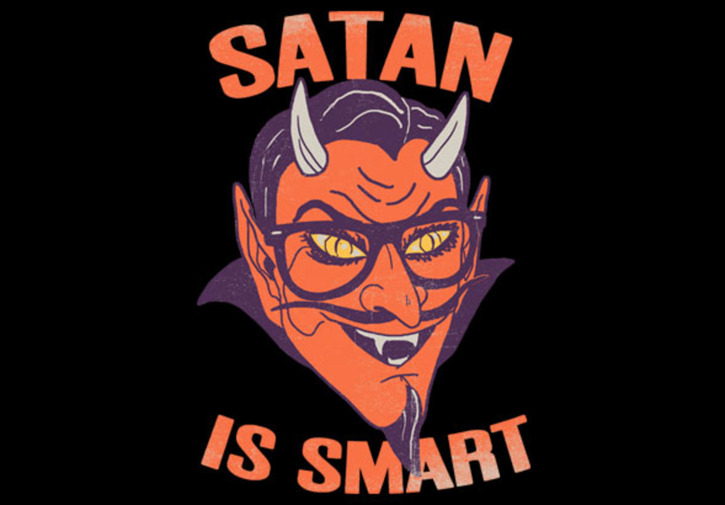 teeVillain: Satan is Smart