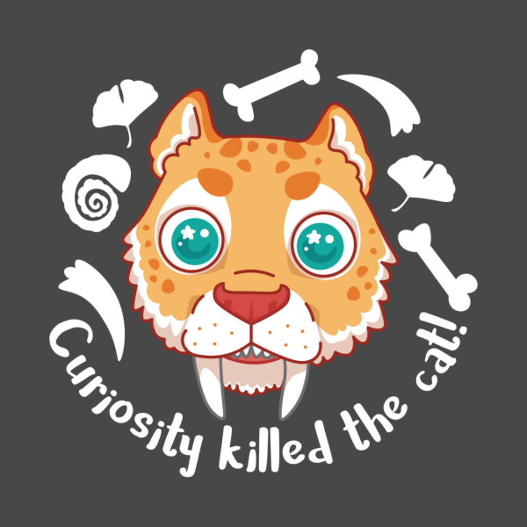 TeePublic: Curious Smilodon