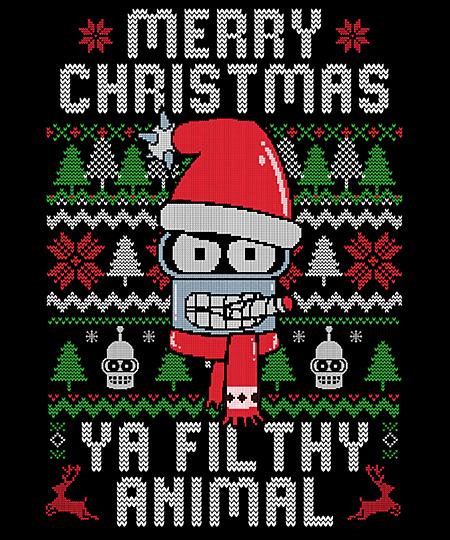 Qwertee: Merry Christmas Ya Filthy Animal