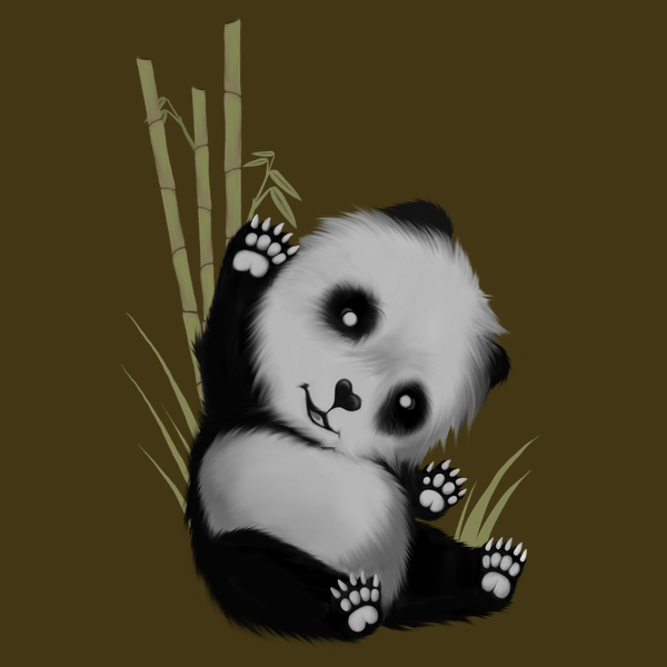 NeatoShop: Cute Baby Panda saying Hi!