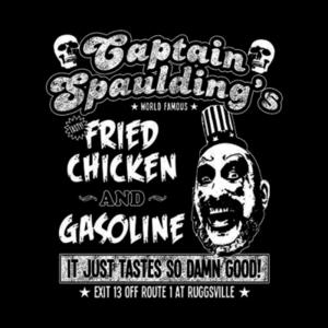 Five Finger Tees: Captain Spaulding's Fried Chicken And Gasoline T-Shirt