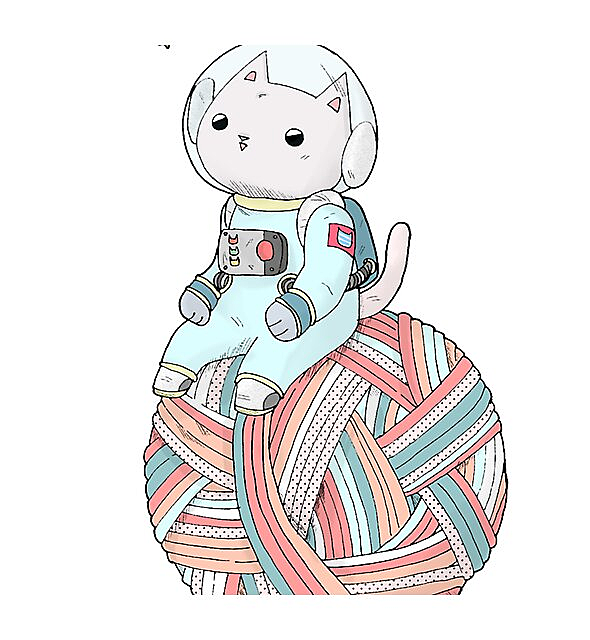 RedBubble: Space Cat on Planet Yarn Ball