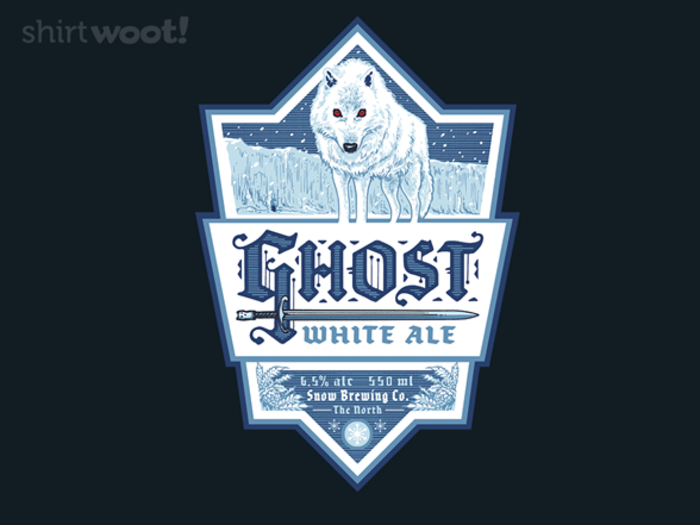 Woot!: Ghost White Ale - Canvas Apron