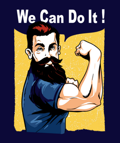 Shirt Battle: We Can Do It Beard