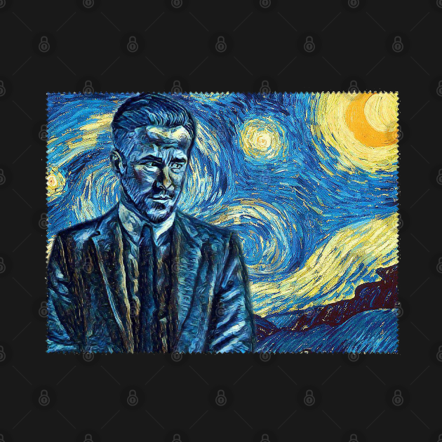 TeePublic: Detective Rat Van Gogh Style