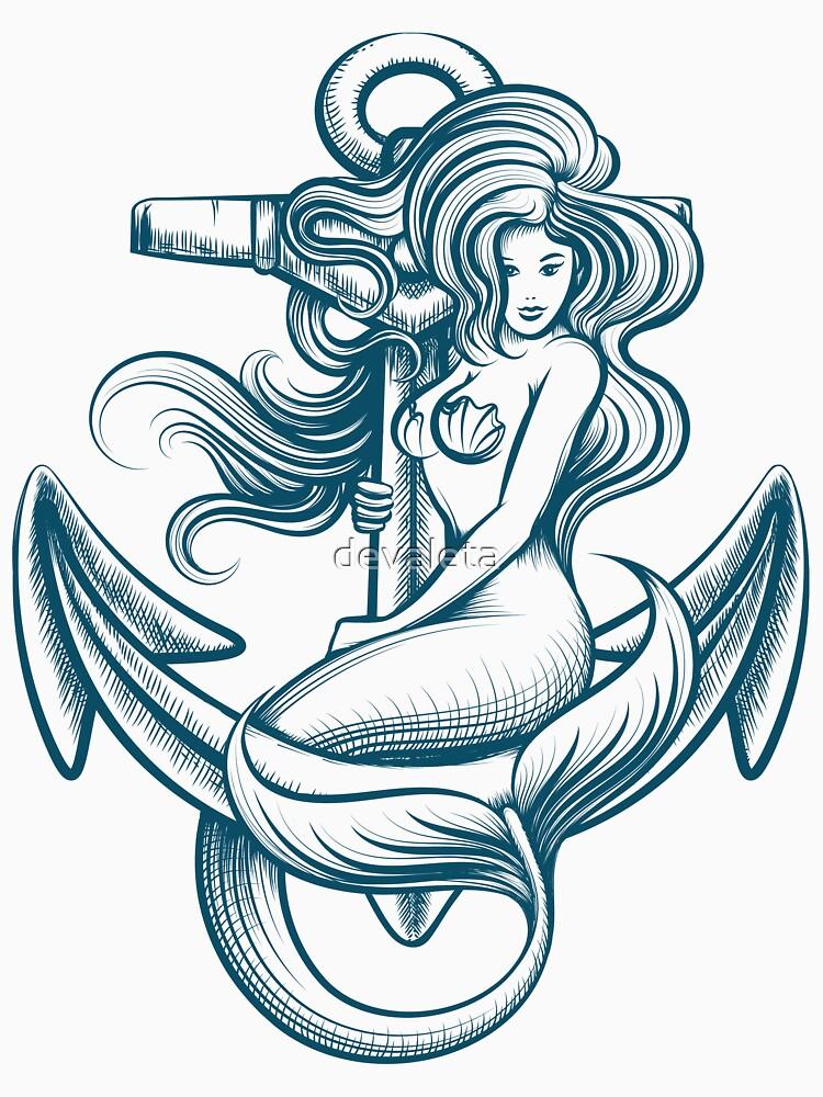RedBubble: Mermaid on the Anchor