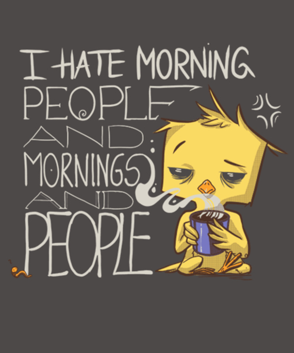 Qwertee: I hate morning people