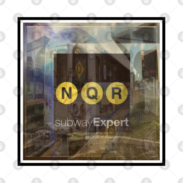 TeePublic: Train Expert N, Q, and R Line