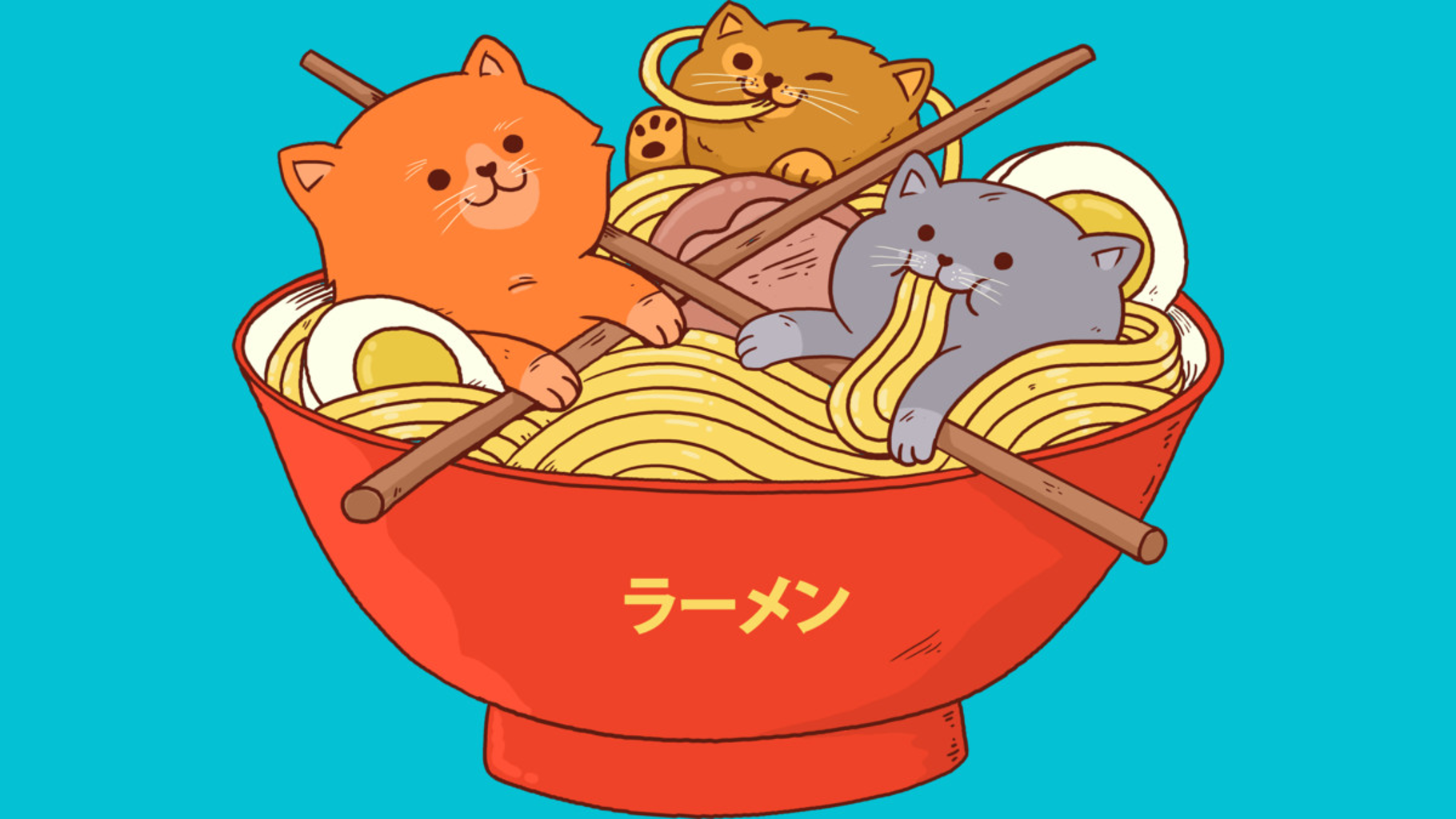 Design by Humans: Ramen noodles and cats