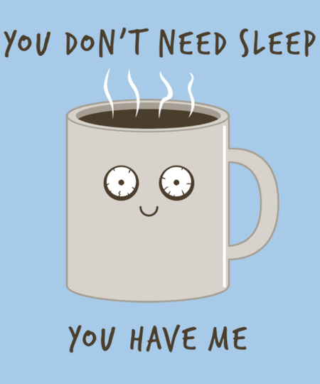Qwertee: Overly attached coffee cup
