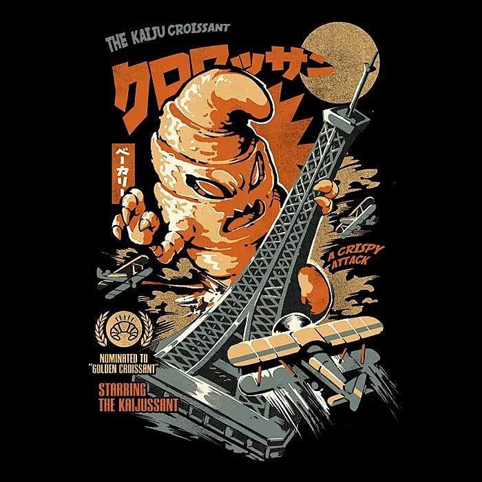 Once Upon a Tee: The Kaiju Croissant