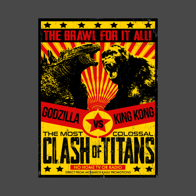 TeePublic: GODZILLA vs KONG - Fight poster 3.0