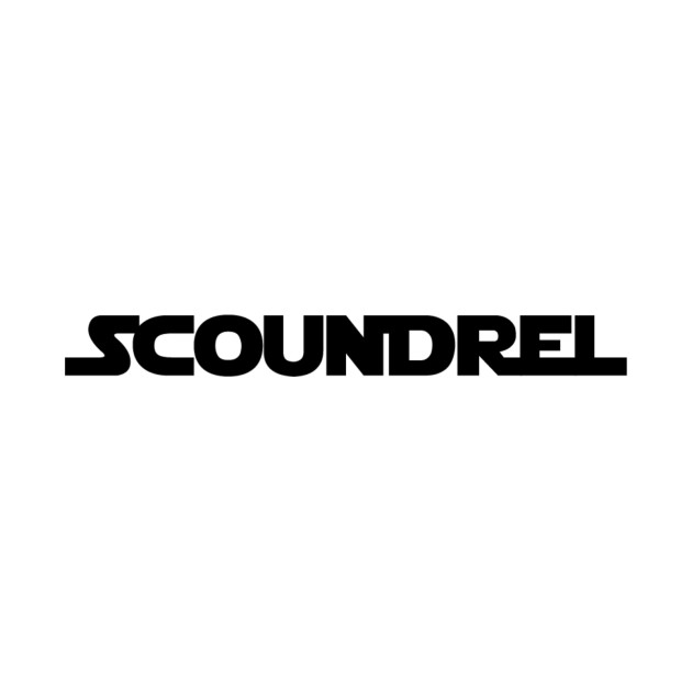 TeePublic: Scoundrel - black text