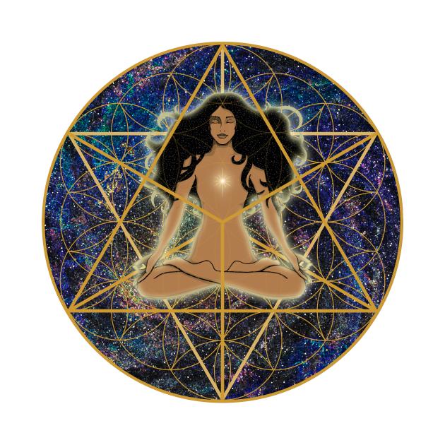 TeePublic: Merkabah Flower of Life Mandala