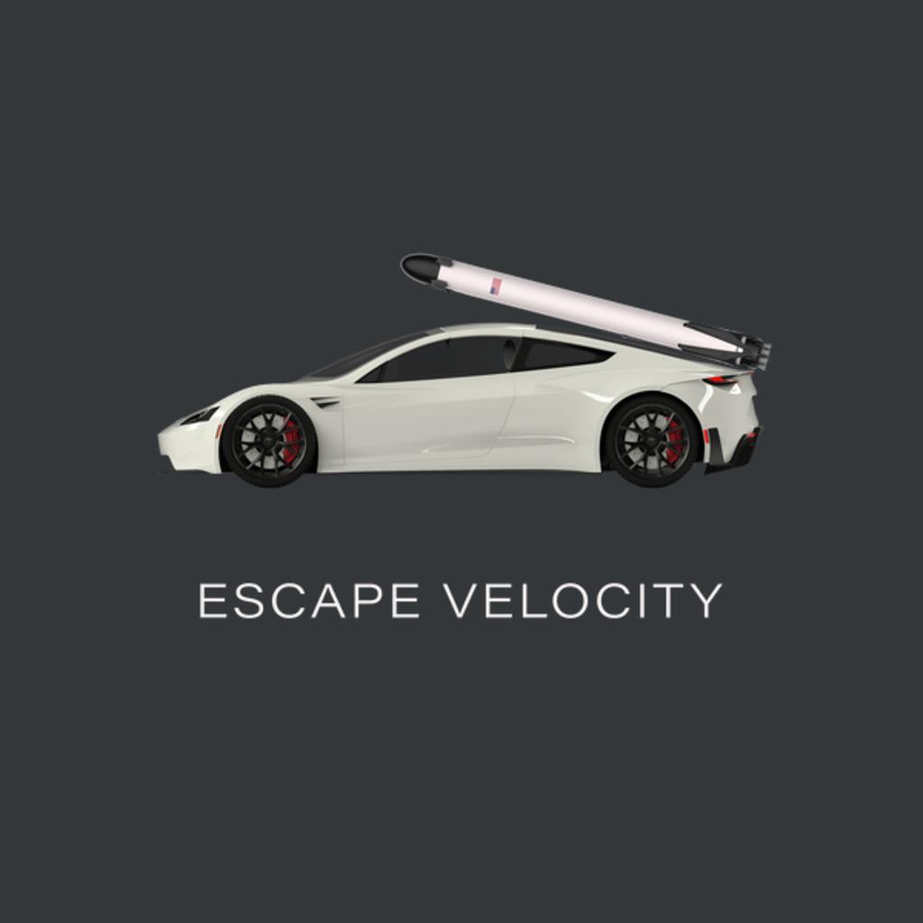 "NeatoShop: Space Roadster ""Escape Velocity"" (White w/ light text)"