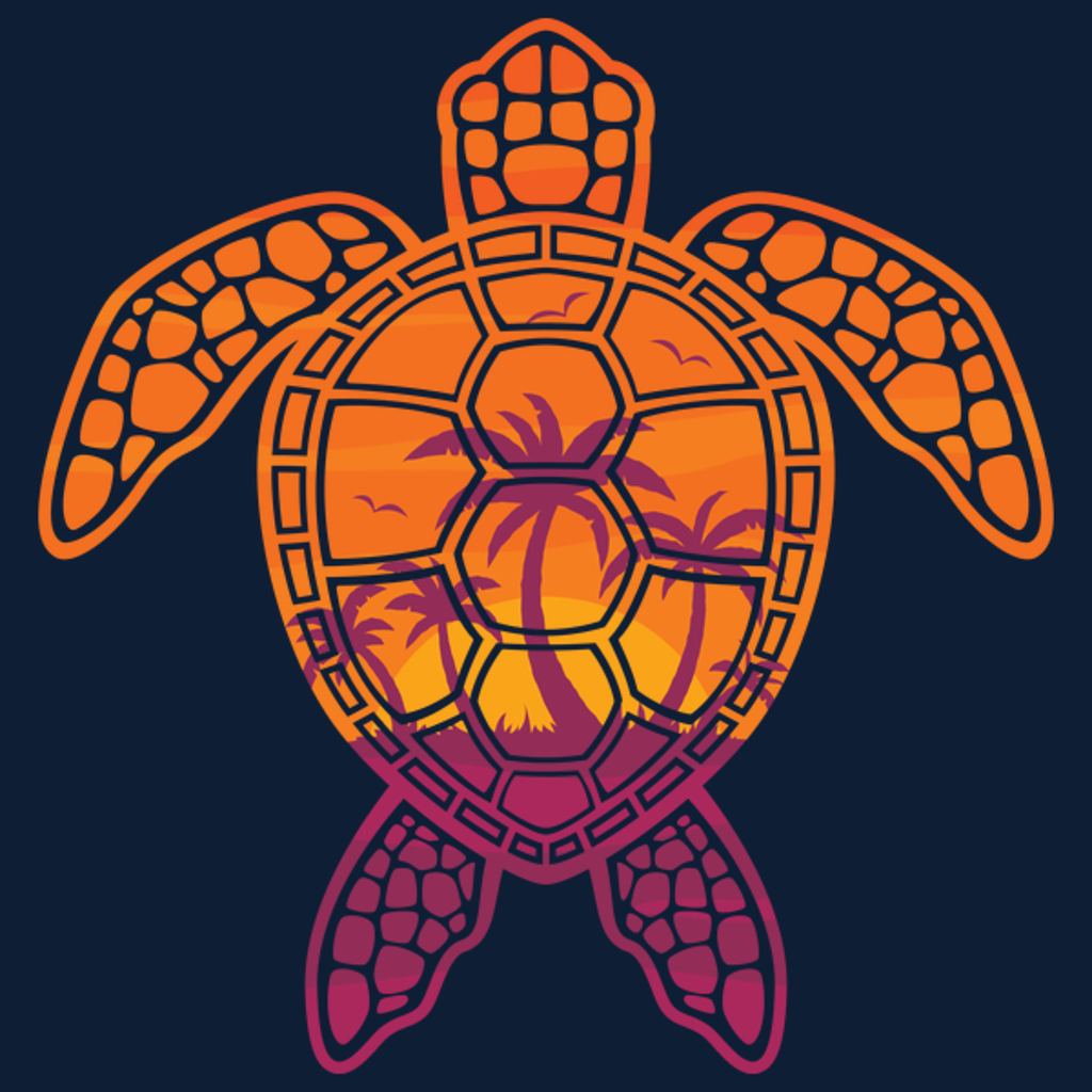 NeatoShop: Tropical Sunset Sea Turtle Design