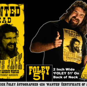 Top Rope Tuesday: Cactus Jack w/ Autograped Wanted COA