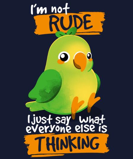 Qwertee: Rude parrot