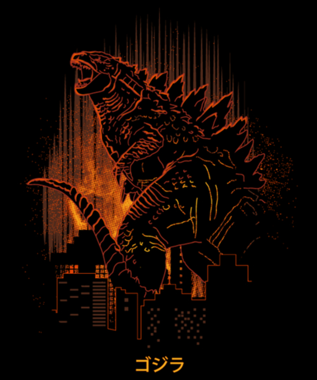 Qwertee: Shadow of Godzilla