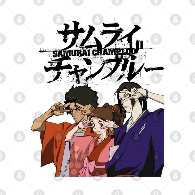 TeePublic: Retro Japanese Adventure Anime Samurai Champloo Characters Funny Design