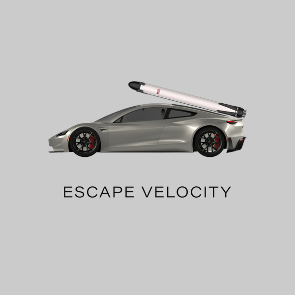 "NeatoShop: Space Roadster ""Escape Velocity"" (Silver w/ dark text)"