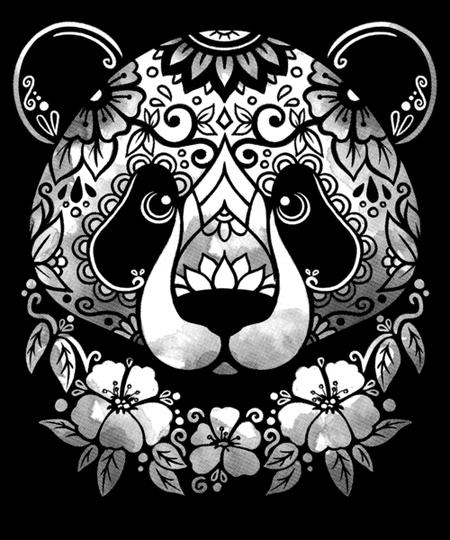 Qwertee: mandala panda