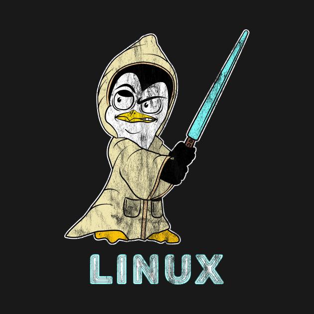TeePublic: Retro Linux Penguin for Linux Admin and Hacker