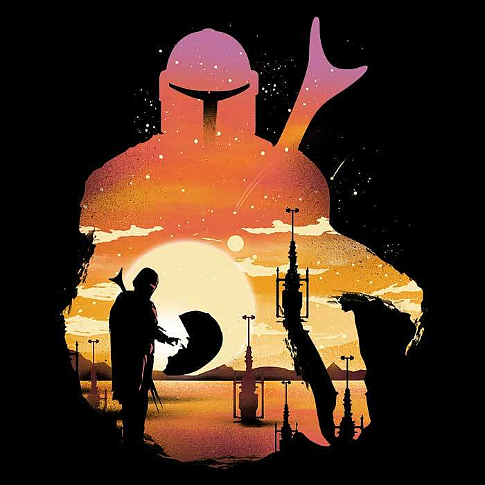 Once Upon a Tee: Mando Sunset