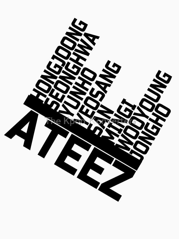 RedBubble: ATEEZ Member Names Design