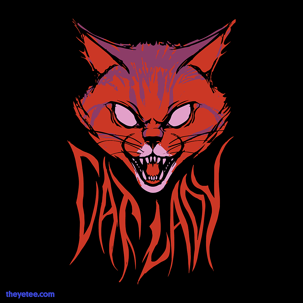 The Yetee: Cat Lady Metal Shirt