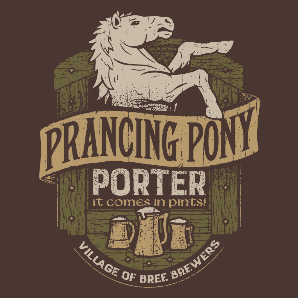 Pop-Up Tee: Prancing Pony Porter