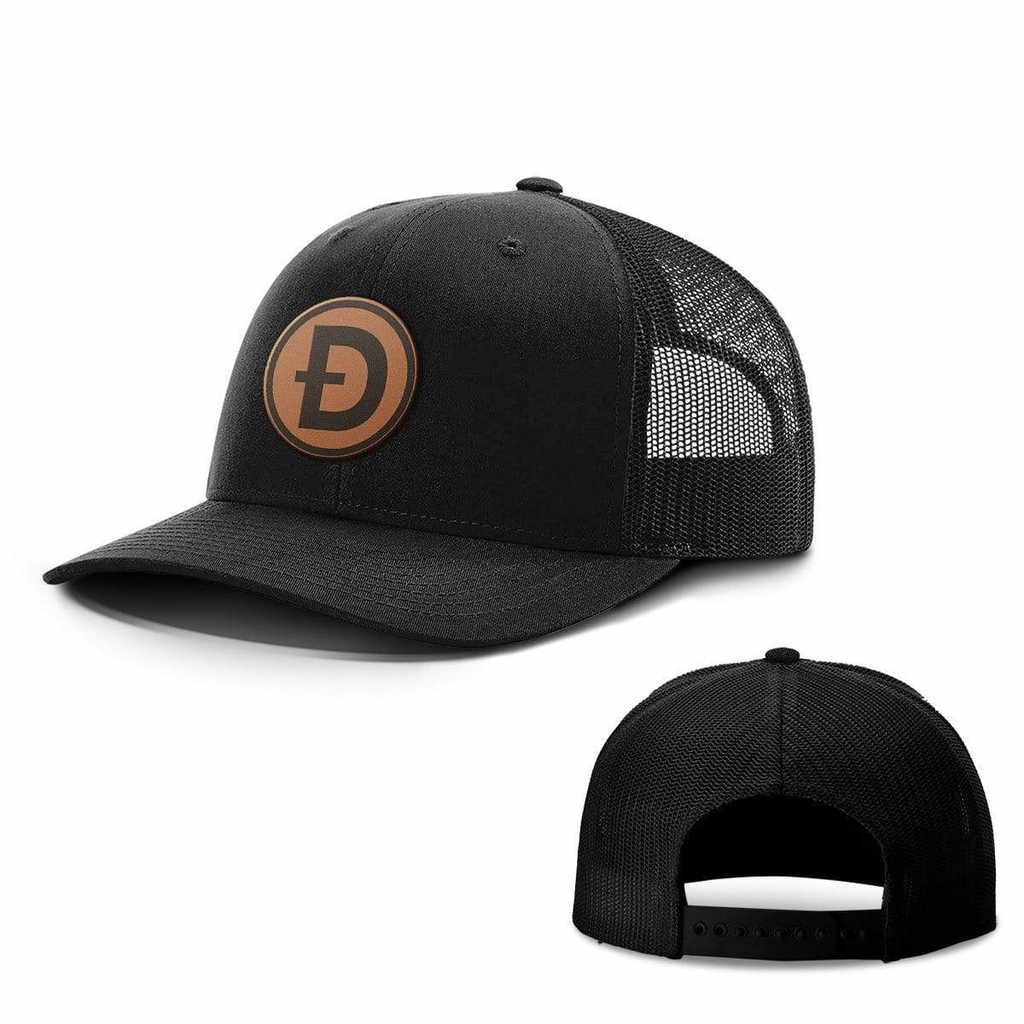 BustedTees: Dogecoin Leather Patch Hats