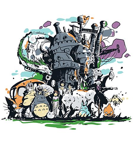 Qwertee: Miyazaki universe