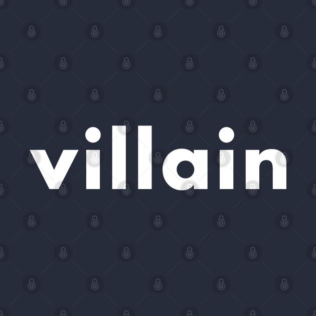 TeePublic: villain