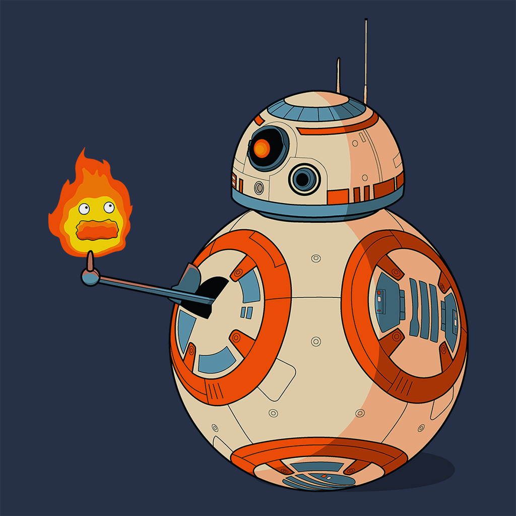 Pop-Up Tee: BB8 Calcifer