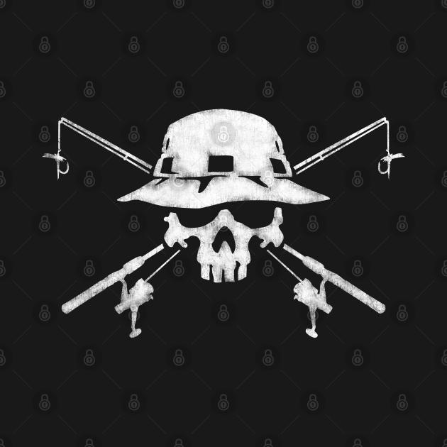 TeePublic: Fishing Skull Logo