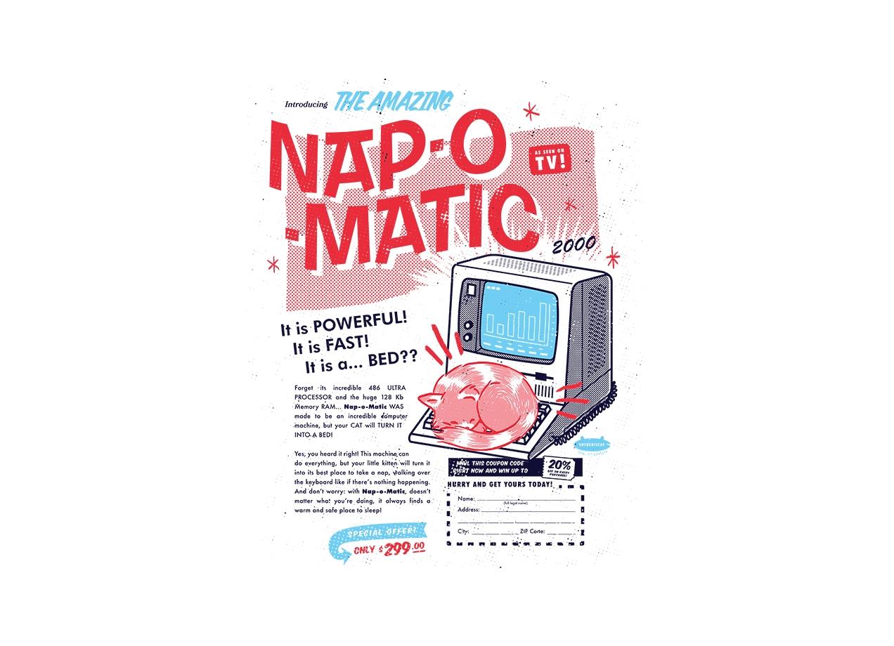 Threadless: Nap-o-Matic =^.^=