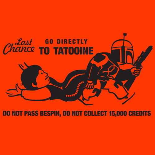 Textual Tees: Last Chance For Han Solo