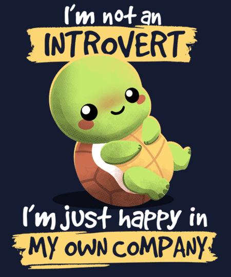 Qwertee: Introvert turtle