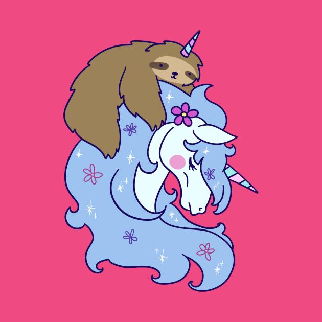 TeePublic: Unicorn and Unicorn Sloth