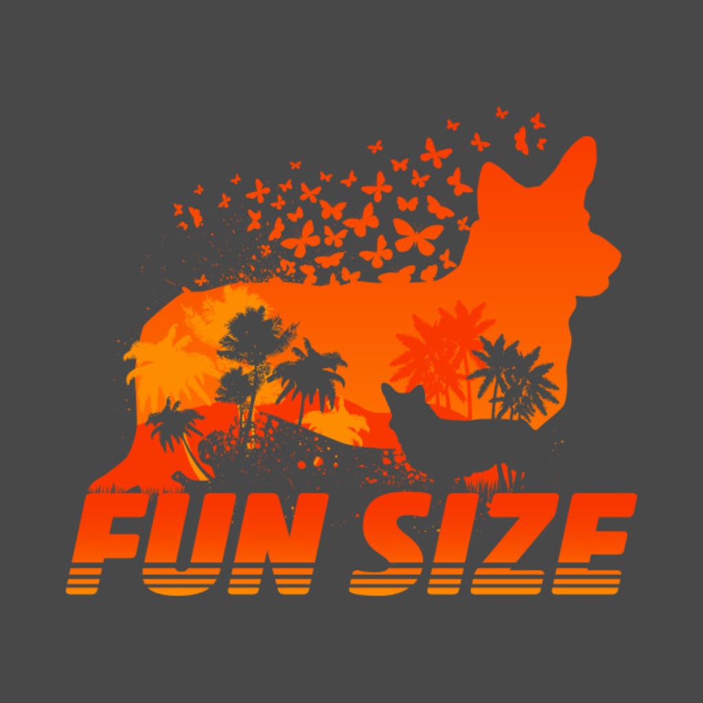 TeePublic: Fun Size Corgi Silhouette