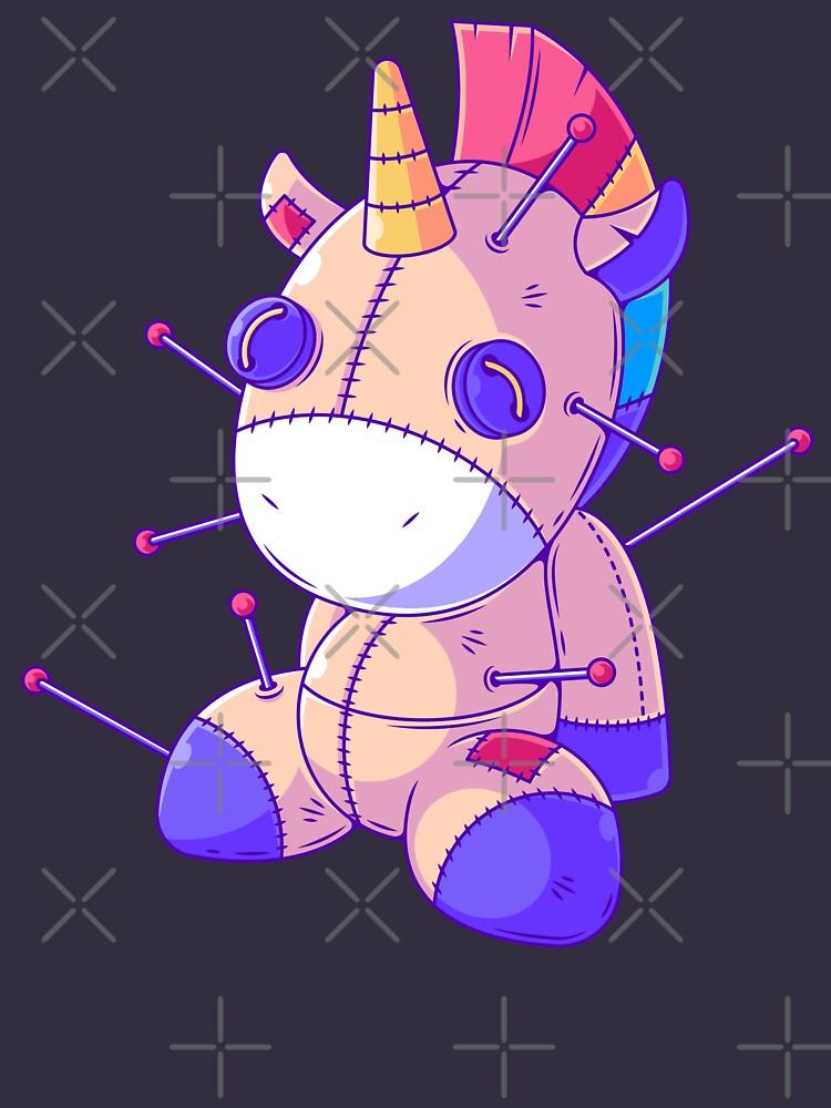 RedBubble: Pastel Goth Unicorn Voodoo Doll Anime Kawaii Menhera