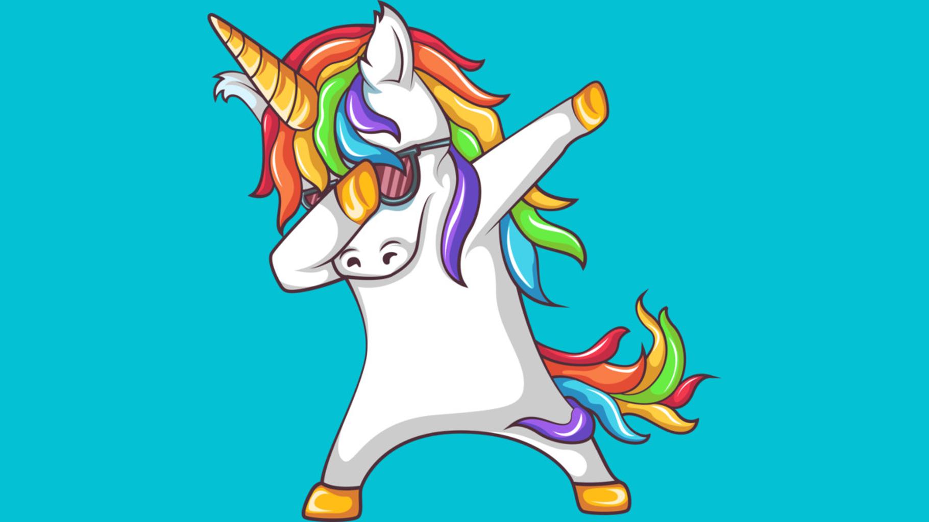 Design by Humans: Dabbing Unicorn